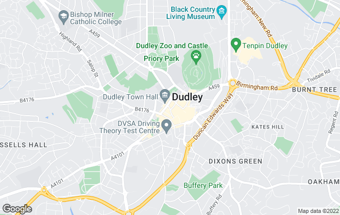 Map for Billingham Taylor, Dudley