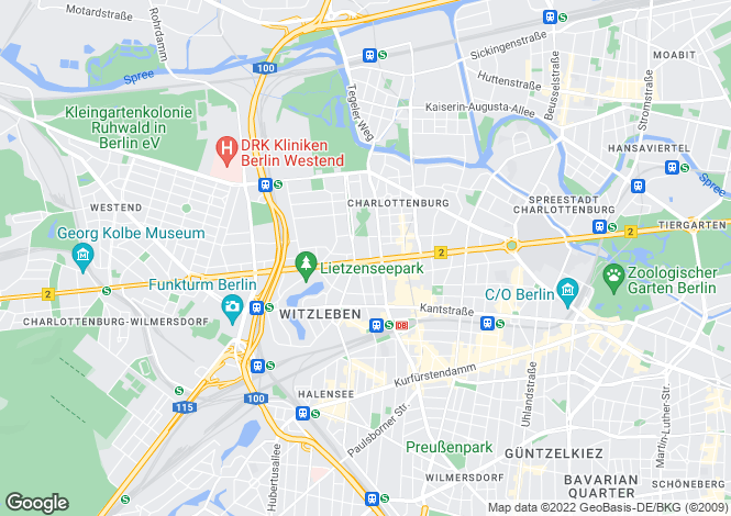 Map for Bismarckstrasse, Berlin, Berlin, 10627, Germany