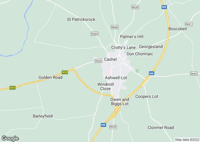 Map for Site 14, Deerpark Road, Cashel, Co Tipperary