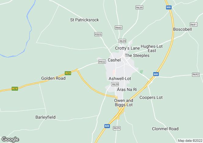 Map for Site 13, Deerpark Road, Cashel, Co Tipperary
