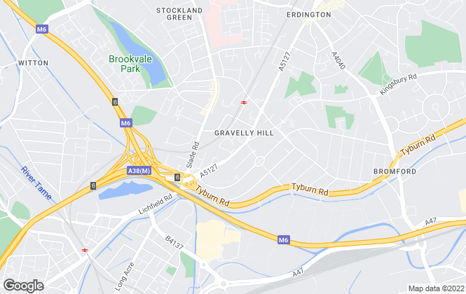 Map for Burchell Edwards, Erdington