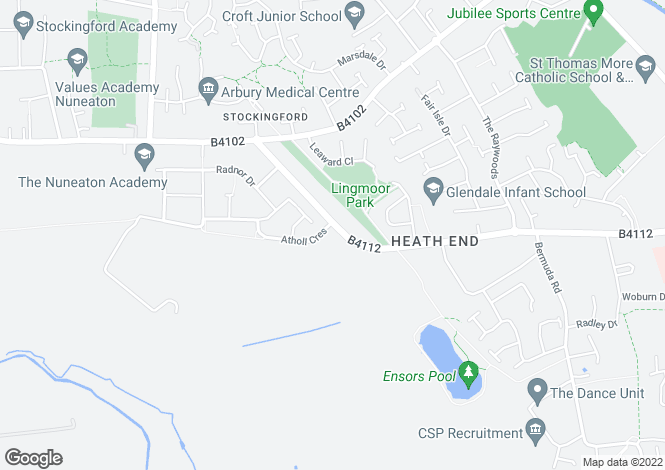 Map for HEATH END ROAD, STOCKINGFORD, NUNEATON, CV10 7HA
