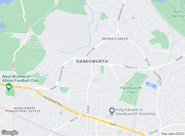 Map for Bairstow Eves, Handsworth