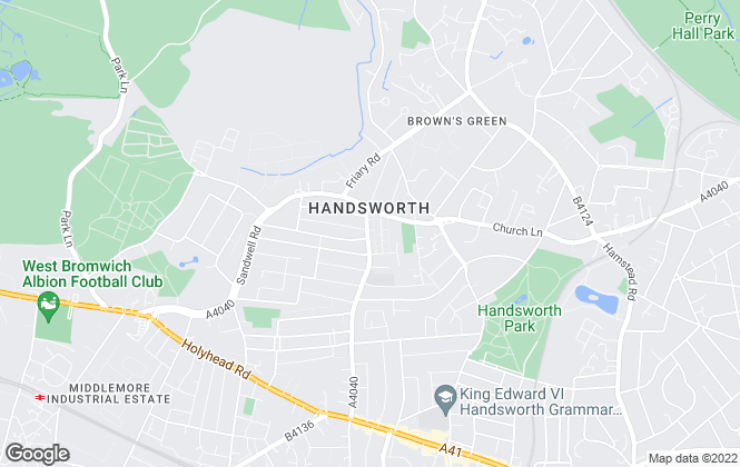 Map for Henley Charles, Handsworth