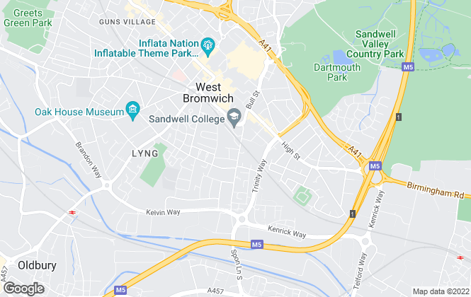 Map for Woolley Pritchard & Co Ltd, West Bromwich