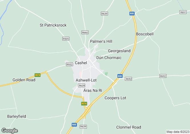 Map for Upper Friar St, Cashel, Co. Tipperary