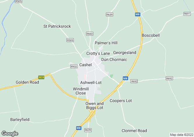 Map for The Green, Cashel, Tipperary