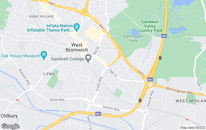 Map for My World Estates, West Bromwich