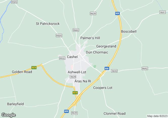 Map for Upper Friar St, Cashel, Co Tipperary