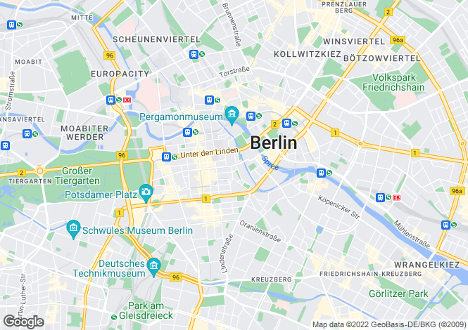 Map for Mitte, Berlin