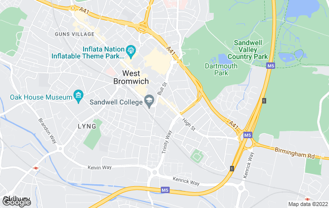 Map for Bond Wolfe, West Bromwich