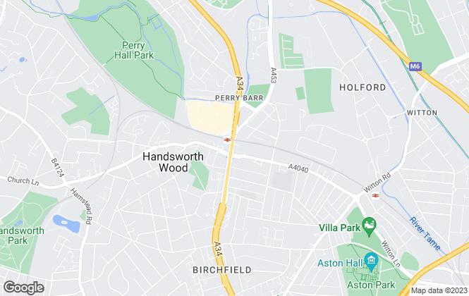 Map for Midland Residential, Birmingham
