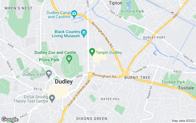Map for Purplebricks, covering Dudley