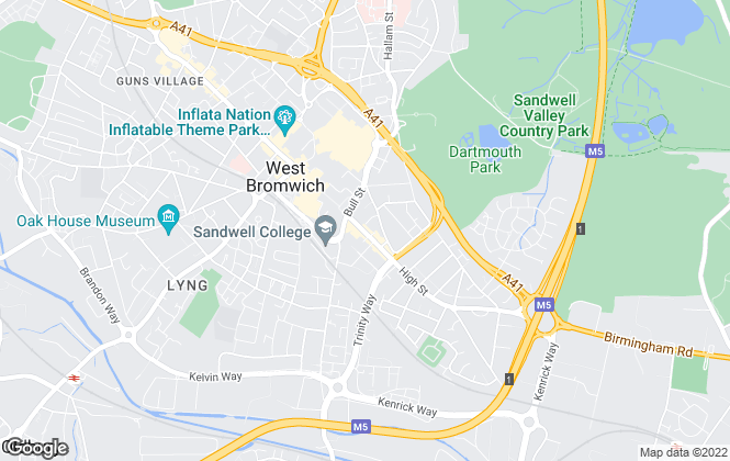 Map for Intelligent Move, West Midlands