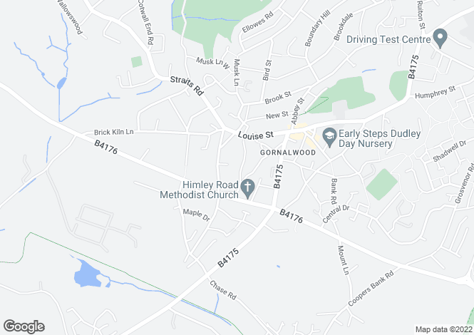 Map for Kettles Bank Road, Lower Gornal, Dudley, West Midlands
