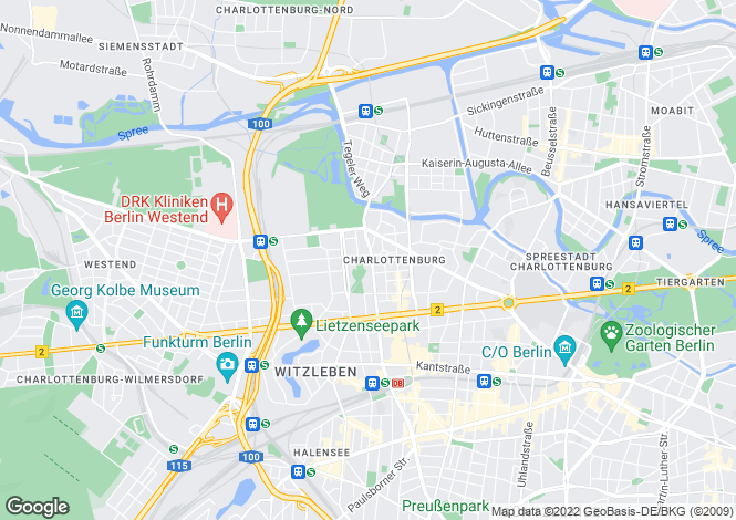 Map for Charlottenburg, Berlin, Germany