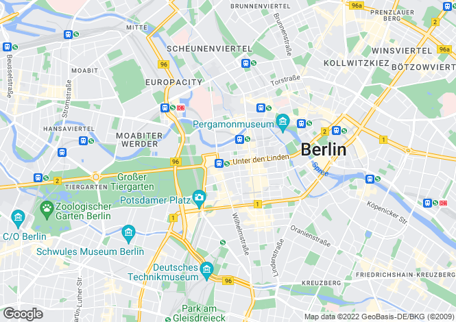 Map for Kastanienallee 124, Berlin, Berlin, 13158, Germany