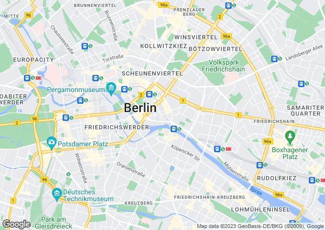 Map for Inner city living in Mitte