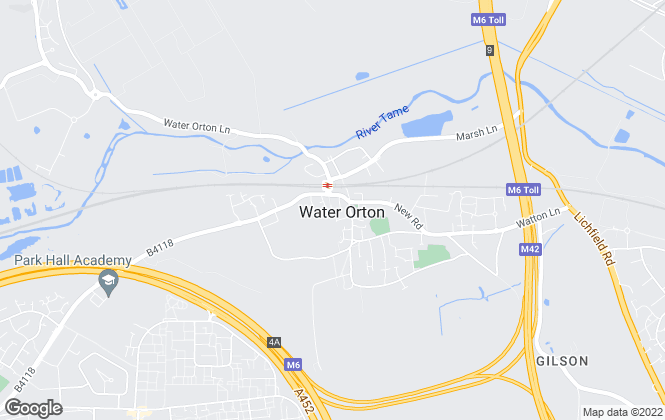 Map for Chambers Estate & Letting Agents, Water Orton
