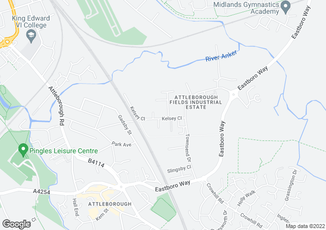 Map for Kelsey Close,