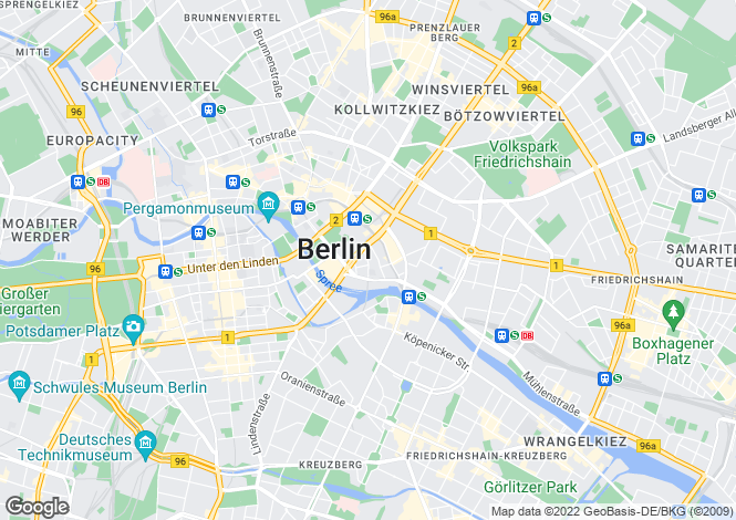 Map for Berlin, Mitte