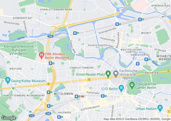Map for Charlottenburg, Berlin