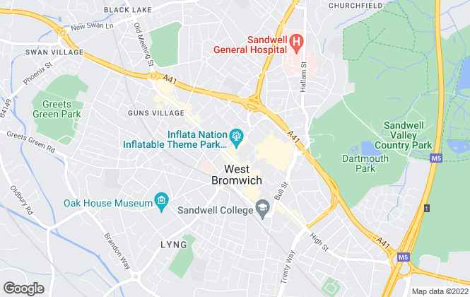 Map for Connells, West Bromwich