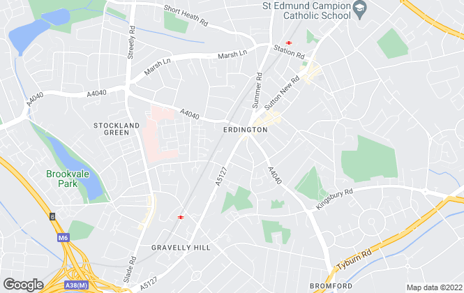 Map for Burchell Edwards, Erdington