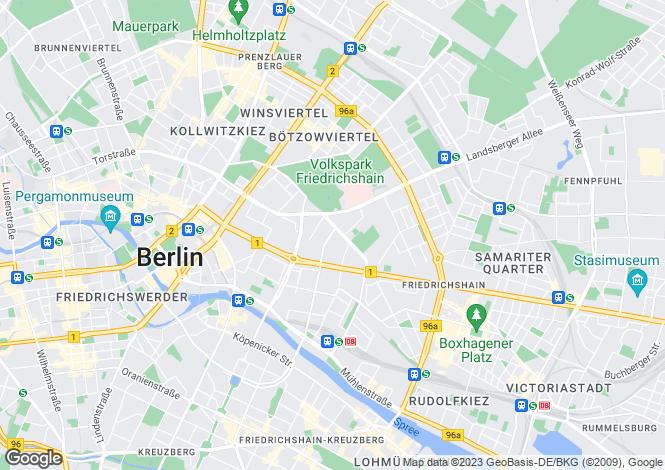 Map for Friedrichshain, Berlin, 10243, Germany
