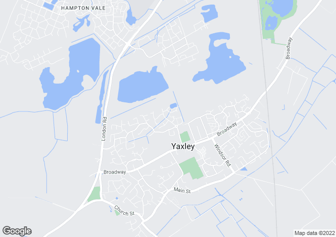 Map for Daimler Avenue, Yaxley