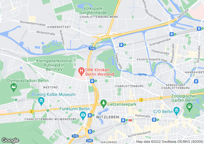 Map for Charlottenburg, Berlin