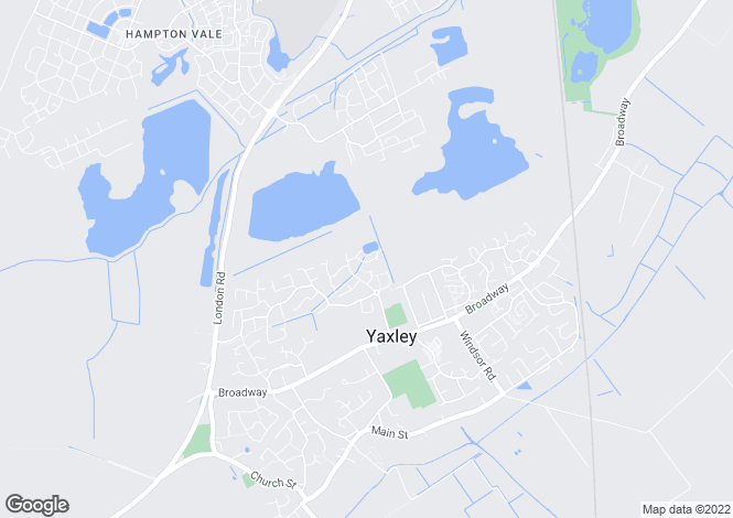Map for Rolls Close, Yaxley, PETERBOROUGH