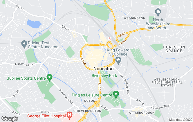 Map for Loveitts, Nuneaton