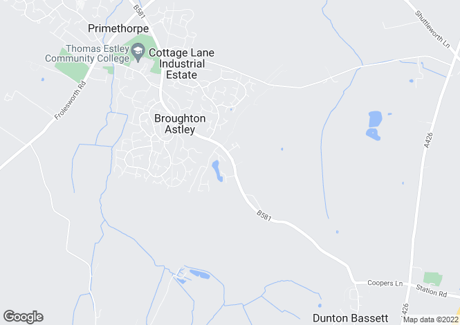 Map for Broughton Astley