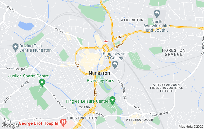 Map for Loveitts, Nuneaton - Sales