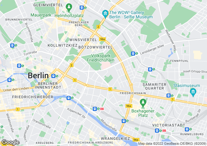 Map for Pufendorfstrasse, Berlin, 10249, Germany