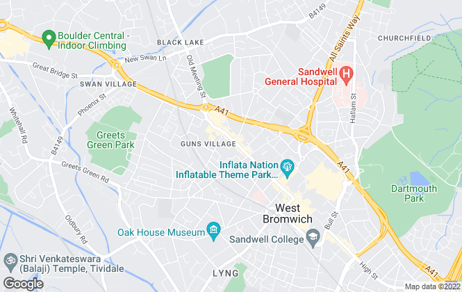 Map for John Miller, West Bromwich