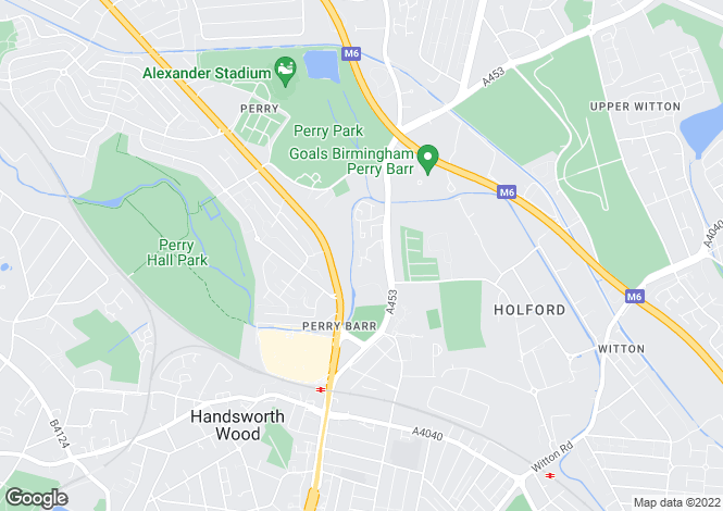 Map for Nash Square, Perry Barr, Birmingham