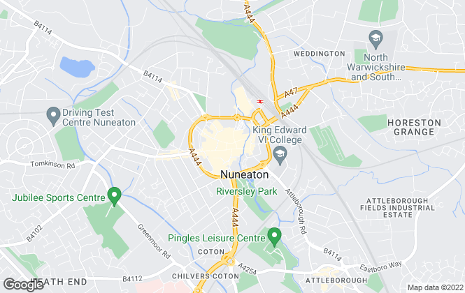 Map for Bairstow Eves, Nuneaton