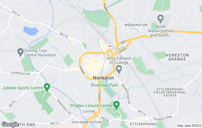 Map for Hawkins Estate Agents, Nuneaton