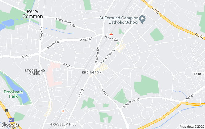 Map for Green & Co, Erdington-Lettings