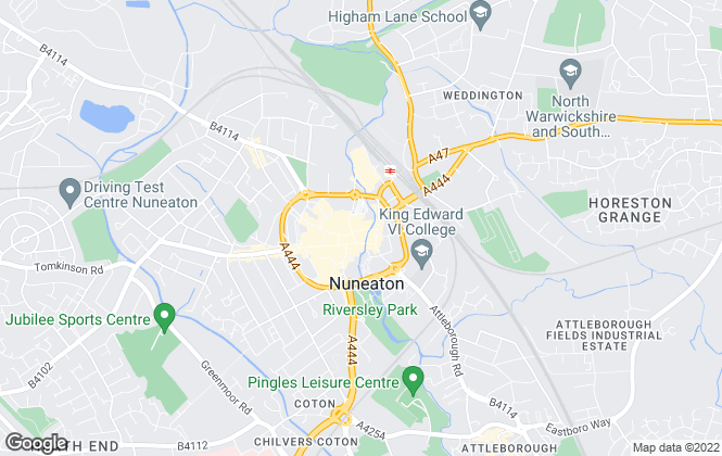 Map for YOUR MOVE, Nuneaton