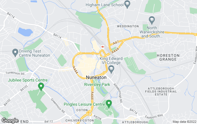 Map for Wright & Wright, Nuneaton