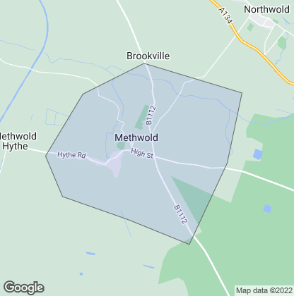 Map of property in Methwold