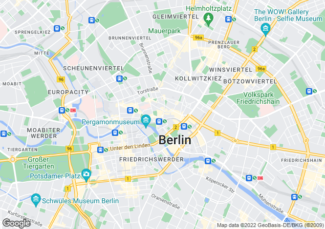 Map for Mitte, Berlin, Germany