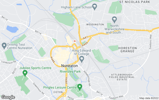Map for S E Properties, Nuneaton