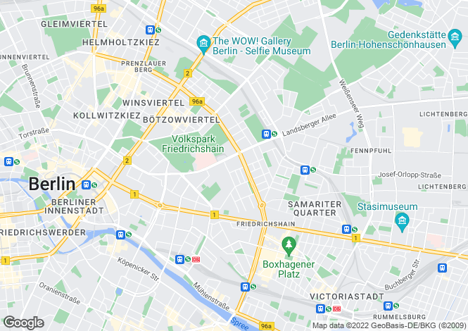 Map for 10249, Berlin, Germany