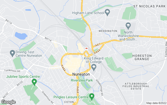 Map for QT Homes, Nuneaton
