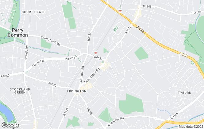 Map for Rodor Lettings, Erdington