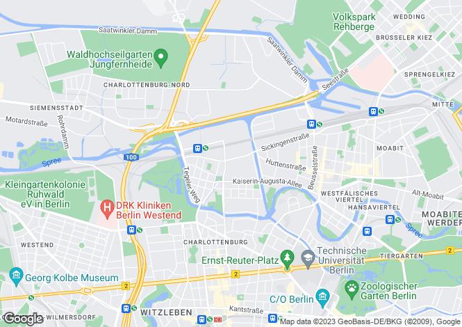 Map for City Centre Development, Charlottenburg, Berlin